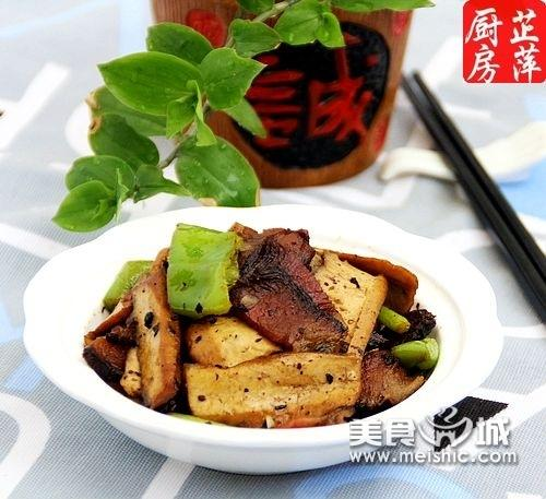 湘腊肉炒豆干的家常做法