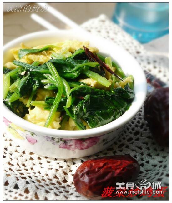 菠菜炒鸡蛋怎么做好吃的家常做法