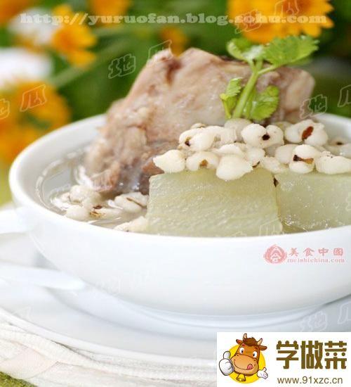 冬瓜薏米煲鸭的家常做法