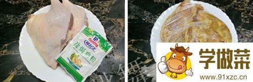 盐焗鸭腿电饭煲的做法_图解在家用电饭煲怎么做盐焗鸭腿