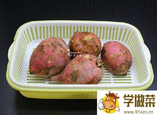 糖醋白薯的做法_图解好吃的糖醋白薯怎么做