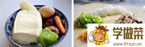 豆腐香菇菜饼的做法_图解好吃的豆腐香菇菜饼怎么煎