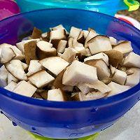 #冰箱剩余食材大改造#宝宝健康饮食之香菇腐竹鸡肉小丸子的做法图解3