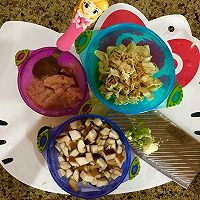#冰箱剩余食材大改造#宝宝健康饮食之香菇腐竹鸡肉小丸子的做法图解1
