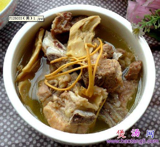 虫草花菌菇排骨汤的做法