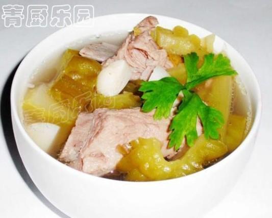 咸菜蒜香苦瓜排骨汤的做法
