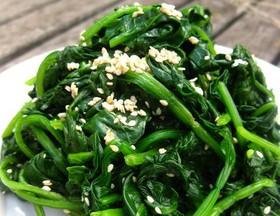 芝麻菠菜的制法与特点