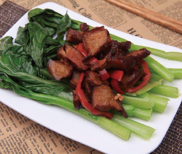 菜心炒腊肉怎么做?菜心炒腊肉的家常做法