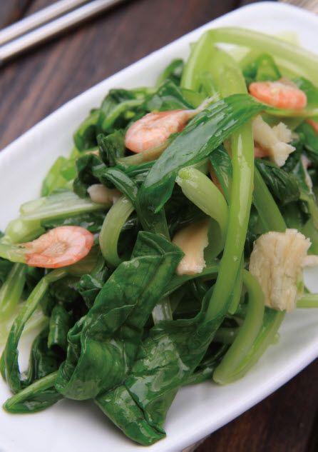 白米虾炒鸡毛菜怎么做?白米虾炒鸡毛菜的家常做法