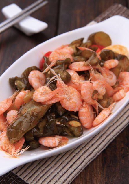 脆瓜炒白米虾怎么做?脆瓜炒白米虾的家常做法