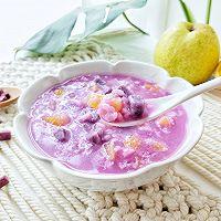 秋季宝宝开胃美食:紫薯水果粥的做法图解6