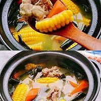 连喝三碗都不够,秋季糍补玉米排骨汤的做法图解1
