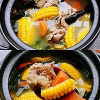连喝三碗都不够,秋季糍补玉米排骨汤的做法图解4